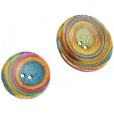 Gebogene Runde Button Classic - 2 Größen