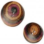 Botão Rodada Curvo Lilac - 2 tamanhos