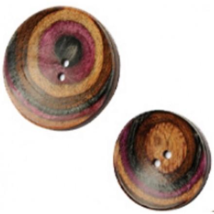 Gebogene Runde Button Lilac - 2 Größen