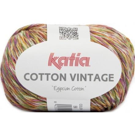 Cotton Vintage 56 Naranja/Malva/Verde