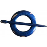 Shawl pins Circular Blue