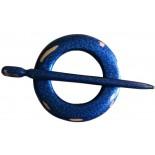 Xale garfo Circular Azul