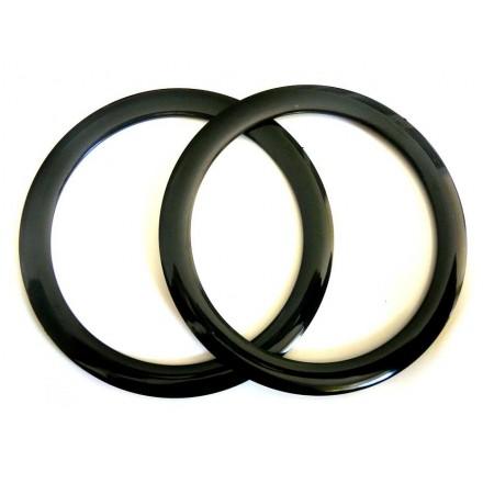 Asas Circulares 16cm. Negro