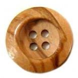 Botão de madeira redonda