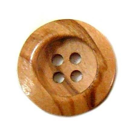 Botón Redondo Madera 18mm.