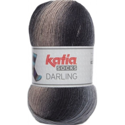 Darling Socks 55 - Crudo-Gris-Negro