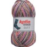 Riff Socks 50 - Gris-Naranja-Fucsia