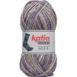 Riff Socks 52 - Gris-Verde-Lila
