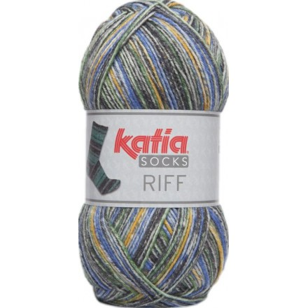 Riff Socks 53 - Azul-Amarillo -Gris
