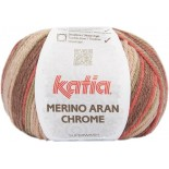 Merino Aran Chrome 253 - Marrón-Coral-Rosa