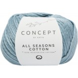 All Seasons Cotton 8 - Celeste