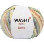 Washi Print 310 - Blanco-Verde-Naranja-Amarillo-Gris-Azul