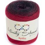 Infinity Shawl 305 - Rojo/Negro/Purpura