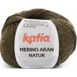 Merino Aran Natur 201 - Mostaza/Negro