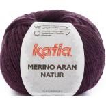 Merino Aran Natur 204 - Fucsia/Negro