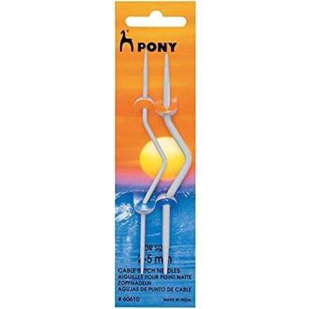 Agujas de Cruzar Ochos Aluminio Pony 2 - 5 mm