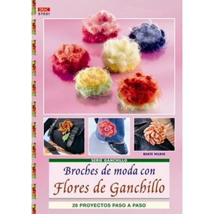 Broches de Moda con Flores de Ganchillo