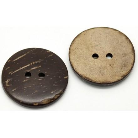 Botón Redondo Cascara de Coco 30 mm