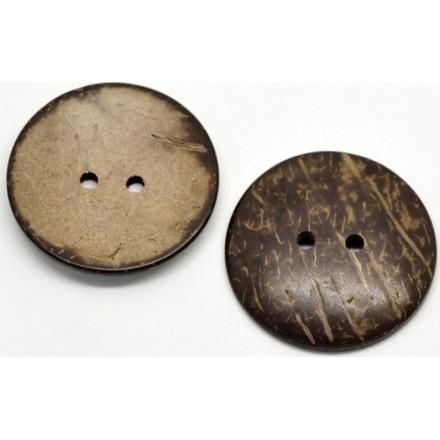 Botón Redondo Cascara de Coco 44 mm