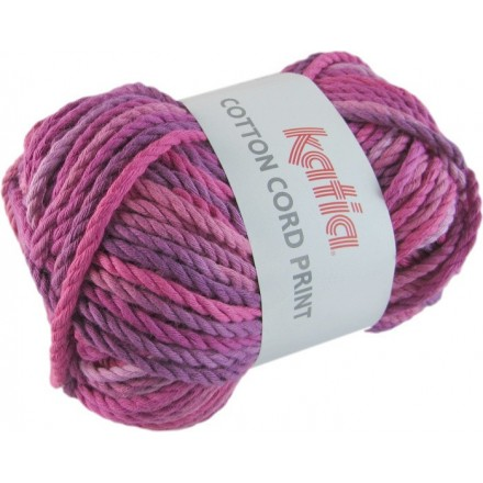 Cotton Cord Print 103 Fucsia/Morado