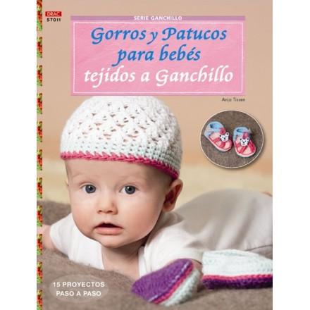 Gorros y Patucos para Bebés Tejidos a Ganchillo